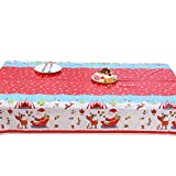 Nicololfle Wachstuchtischdecke Tischdecke Wachstuch Tischdecken Decke Tisch Wachs Weihnachten Weihnachtlich Wachsdecke zu Advent Winter Weihnachten (120cm x 180cm) (Dann)