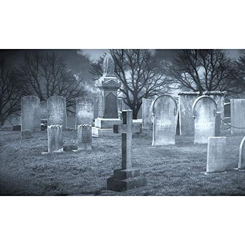 C.LLIFE DIY Diamant Malerei Diamant Stickerei Kreuzstich Friedhof Halloween Bild von Strass Diamant Mosaik Handgemachte Malerei mit Diamanten 80X100cm