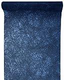 Santex Tischläufer Faseroptik Marine Blau, 30cm x 5m