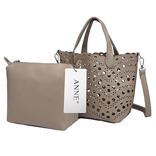 Anne, Borsa tote donna verde Black Grey