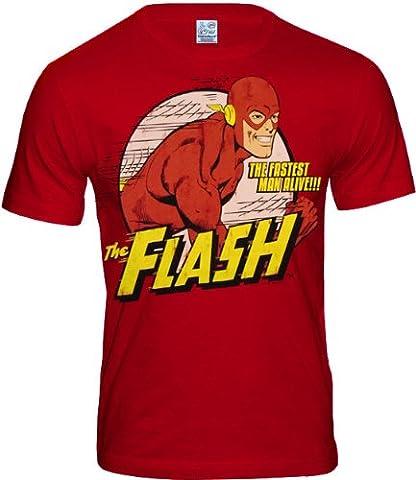 DC - Flash The Fastest Man Alive Logoshirt T-Shirt Red, XXL