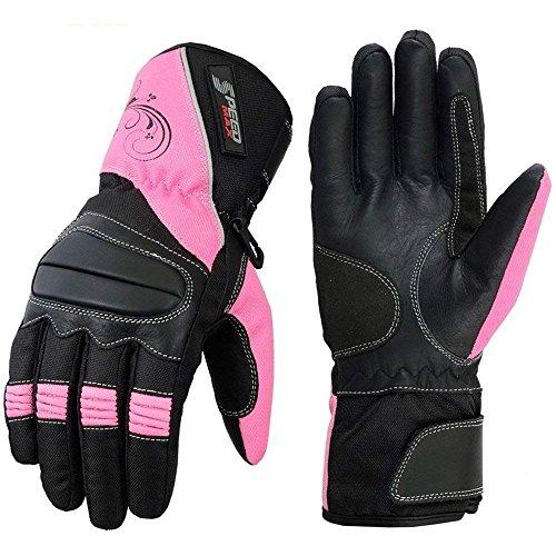 SPEED MAXX LTD Guantes de moto para mujer, color rosa, velocidad máxima