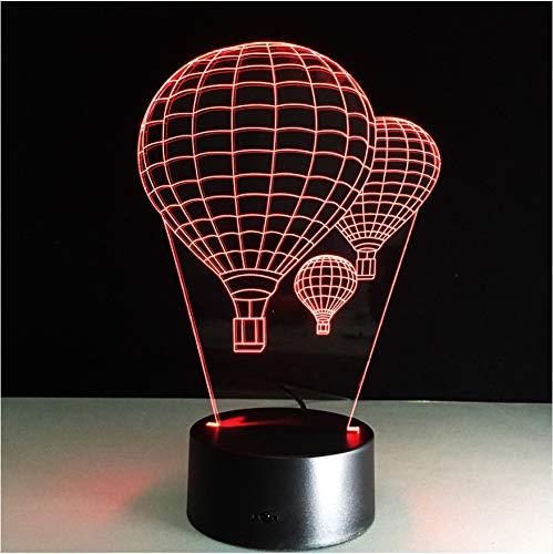 Nachtlicht 7 Farbe Heißluft Ballon Lampe 3D Visuelle Led-nachtlichter Für Kinder Touch Usb Tabelle Lampe Baby Schlafen