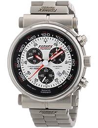 Formex 4 Speed AS1500 - Reloj cronógrafo de caballero de cuarzo con correa de acero inoxidable plateada (cronómetro) - sumergible a 100 metros