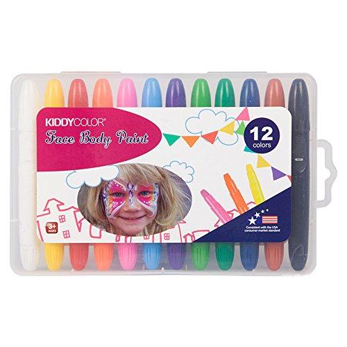 MOMIN-pen Farbstift Kinder 12-Farben-Körper Malerei Stift Set sicher und ungiftig waschbar Weihnachten Halloween Fans Gesicht Farbe Zeichnungsmarkierung