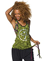 Zumba Fitness Funked Up Burnout - Camiseta sin mangas para mujer, color verde, talla L