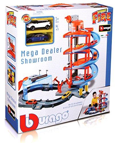 Burago 30031 - Rampa a spirale con veicolo radiocomandato Garage Mega Dealer, scala 1:43