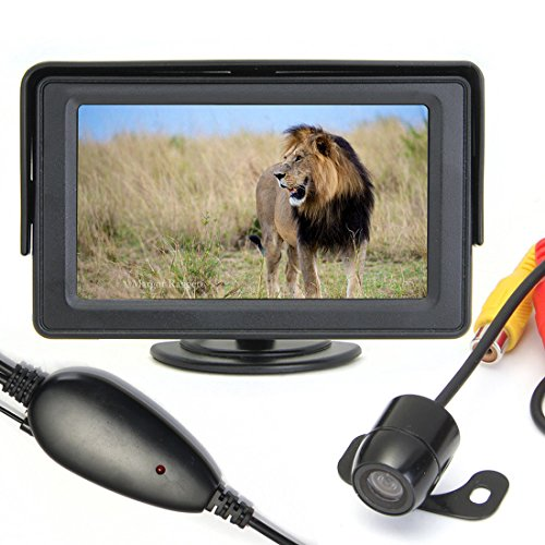 "4.3 ""TFT Auto LCD Wireless Rear View Monitor Rückfahrkamera Auto Parkplatz Tragbare Wide Screen Backup"