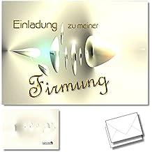 DigitalOase 2 Einladungskarten Zur Firmung   Glückwunschkarten  Firmungskarten 2 Klappkarten Incl. 2 Weiße Kuverts Format