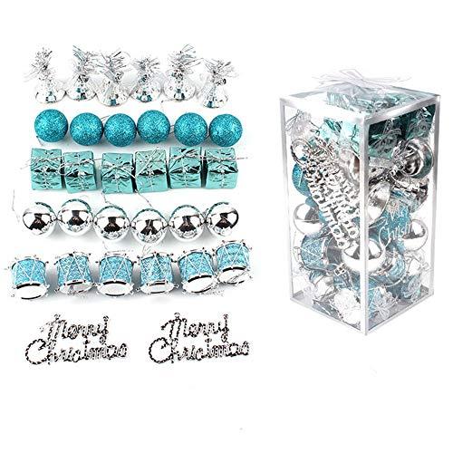 Yunhigh 32 unids Decoraciones de Bolas Navidad plástico Feliz Ornamento inastillable Colgante...