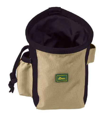 HUNTER Bugrino standard Gürteltasche, Futterbeutel, Leckerlitasche, für Training und Ausbildung, L, schwarz/beige -