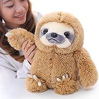 Winsterch Cuddly Sloth Soft Toy,Plush Sloth Stuffed Animal Toy, Cuddly Sloth Teddy Gifts(Brown, 15.7 inches)