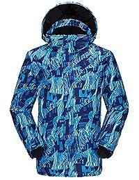 J-TUMIA Chaqueta De Esquí Traje de esquí al Aire Libre de los Hombres Gruesa