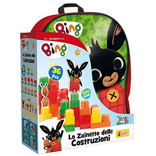 Lisciani Giochi- Gioco per Bambini Bing Zainetto, Costruzioni Baby, Colore Rosso, 76611