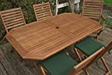 Rowlinson Plumley 6-Seater Garden Dining Set in Wood - Natural (7 Pieces)