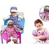 Bebé muñeco con chupete en rosa y azul - Juego y juguete infantil para niño y ni - Azul