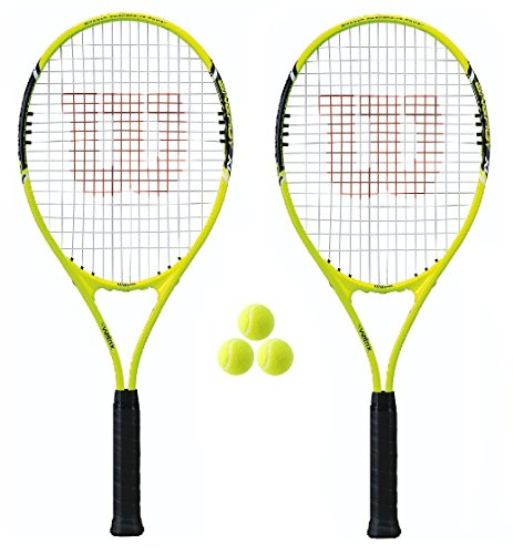 2 x Wilson Energy XL Tennis Rackets + 3 Tennis Balls RRP £90