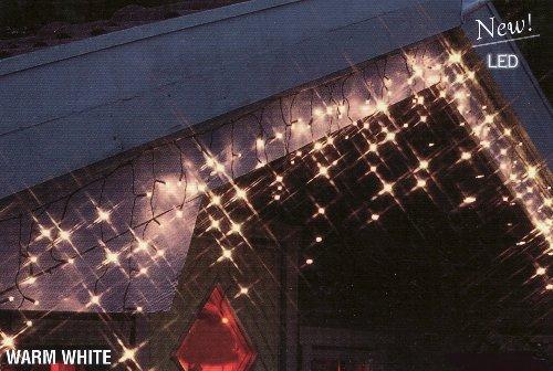 LED Lichterkette Eiszapfen 240 warm weiß Lichtervorhang - Warm-weiße Led Eiszapfen