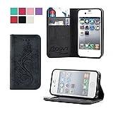COOVY Étui pour Apple iPhone 4 / 4s Coque, boîte de Carte de crédit, Fermeture...