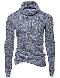 HX fashion Pull À Col Roulé À Manches Longues pour Hommes Tailles Confortables  Pull À Col cb2ed5b8a2d9