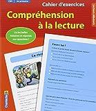 Cahier d'exercices Compréhension à la lecture (CM1 4e primaire) (rouge)