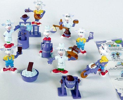 Preisvergleich Produktbild Satz Milkinis Figuren von Milka, die Schokoladenfabrik 2001
