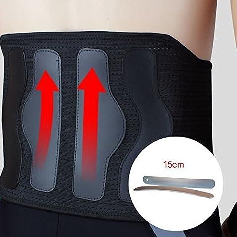 Penwell Faja lumbar ajustable para aliviar dolor de espalda y corregir la costura, apto para hombres y mujeres activos o con dolencias, ideal para evitar lesiones durante ejercicio o actividades físicas, artículo médico seguro, también resulta apto para la