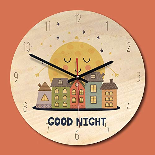 JVHUE Wanduhr Animal Print Wanduhr 11 Zoll Holz Runde Wanduhr Home Office Kaffee Wand Dekor Geschenk für Kinder, B