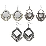 Best Ring 3 - aabhu Multicolour Oxidized Silver Earrings for Girl Review
