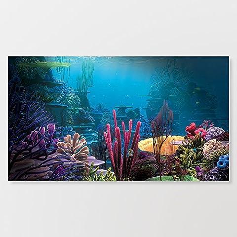 coloré Océan Paysage Art Impression réalisée comme un tableau sur une vraie structure en bois 35,6x 71,1cm