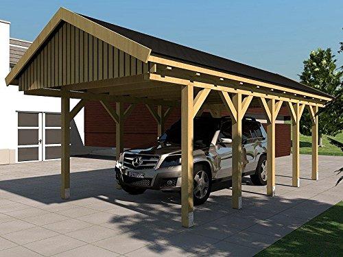Carport Satteldach NÜRBURG III 400x800cm Bausatz Satteldachcarport