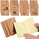 Shulaner Portátil Notebook Paginas en Lined Cuaderno Extra Small Cute Notebook pequeño Pack de 20