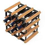 Haushalt Weinglas Halter Weinregal Massivholz Ornamente Weinkühler Restaurant Flaschenregal (Farbe : Holzfarbe)