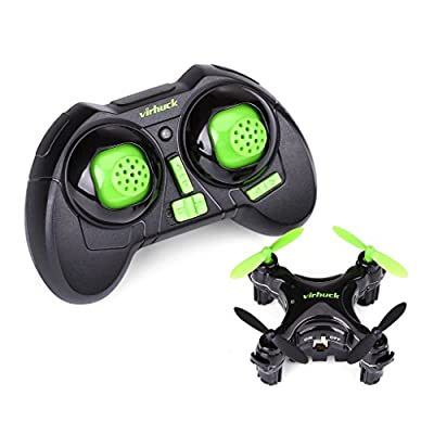 Virhuck CX-10D Mini Drone for Kids, Height Hold Stable RC Quadcopter Drone, 2.4GHz, One-Key Take Off / Landing, 360° Rotation 3D Flip, Remote Control Pocket Quadcopter Drone