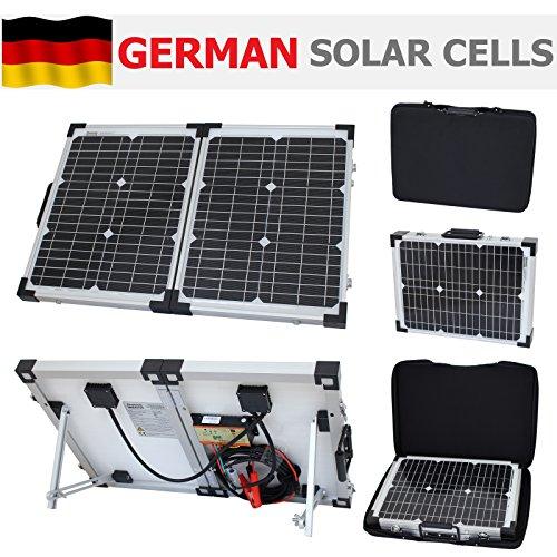 Photonic Universe Solar-Ladekit, klappbar, für Reisemobil/Caravan/Wohnmobil/Auto/Van/Boot/Yacht, ideal für Camping/Reisen mit Wohnmobil/Rallyes/Messen/mobile Büros oder andere 12-Volt-Systeme, 40Watt, 12Volt