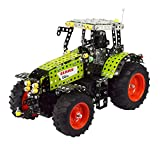 Tronico 10058 - Metallbaukasten Traktor Claas Axion 850 mit Fernsteuerung, Maßstab 1:16, Profi Serie, grün, 734 Teile