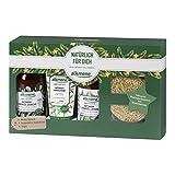 alkmene Geschenkset Peelingschwamm mit Olivenkernen