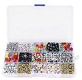 1100pcs/Box Kunststoff Alphabet Buchstaben Perlen Würfel Charms für Schmuckherstellung für Armbänder Halsketten Schlüssel Ketten und Kid Schmuck