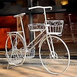 Estante De Flores Arte De Hierro Bicicleta De Pie Decoración De La Ventana Europea Decoración De Prop (Color : #1)