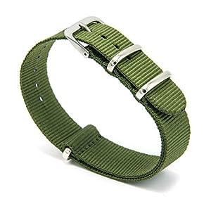CIVO Reloj Bandas OTAN Premium Ballistic Nylon hebilla de correa de reloj de acero inoxidable de 18mm 20mm 22mm con barra de herramientas de Primavera y superior 4barras de resorte de bonificación marca CIVO