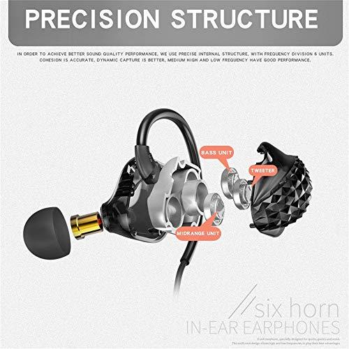 X900 DREI dynamische Firmware In-Ear-Kopfhörer/HiFi-Sound/Super-Bass-Stereo/Hängeohr-Design/mit Mikrofon / 3,5-mm-Kopfhöreranschluss Kopfhörer