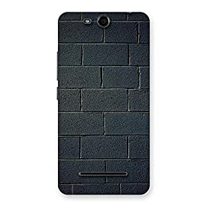 Special Black Brick Wall Back Case Cover for Micromax Canvas Juice 3 Q392