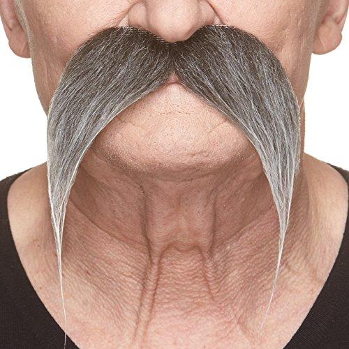 Selbstklebende Fälscher Schnurrbart Neuheit Kung-fu Master Falsch Gesichtsbehaarung Kostümzubehör für Erwachsene Salz und Pfeffer Farbe (Salz Und Pfeffer Perücken)
