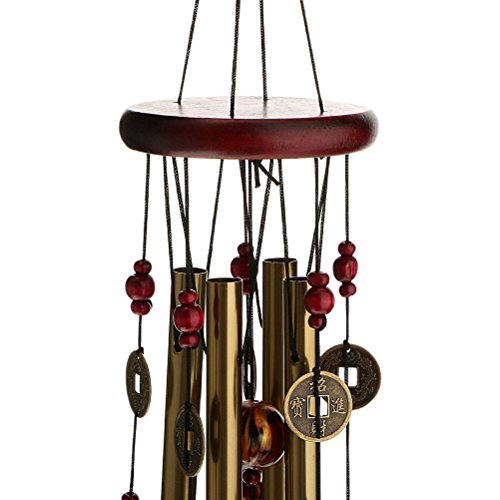 ROSENICE Windspiel, 4 Rohre 5 Glocken Klangspiel Windspiel - 3