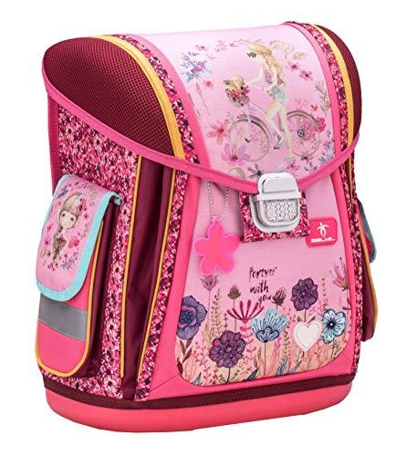 Ergonomischer Schulranzen für die Grundschule - 1-3 Klasse/Mädchen /Pink von Belmil (Forever in Love)