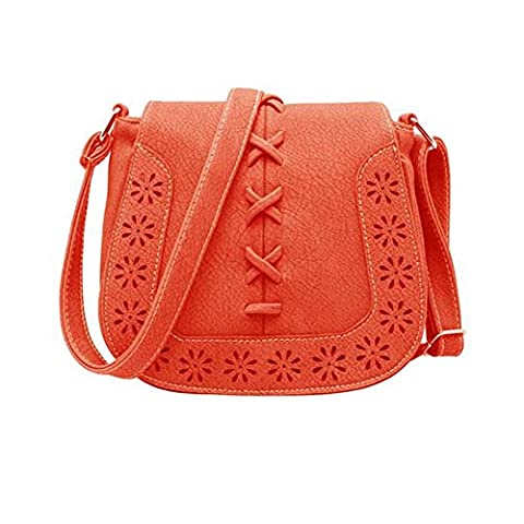 Hrph Women Messenger Tassel Bag Hollow Out PU Leather Shoulder Purse Handbags Saddle Crossbody Bags