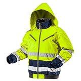 Thermo Warnschutzjacke EN 20471 Warnjacke orange neon gelb Arbeitsjacke Warnschutz Sicherheitsjacke XL neongelb