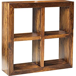 Asia Dragon Cuba Cube Sheesham 4 Hole Shelf