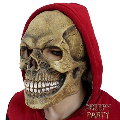Creepyparty novit¨¤ festa di halloween costume in lattice pieno testa teste maschera di teschio deluxe 2