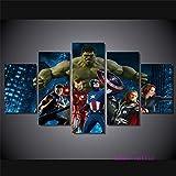 (size 1) Toile Mur Art Photo Décor À La Maison 5 Avenger Hero Hulk Affiche HD Imprimer Image Affiche No Frame